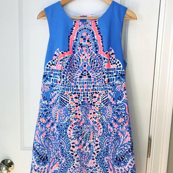 59953ea96293ad Lilly Pulitzer Dresses | Lily Pulitzer Mila Shift Tic Tac Tile ...